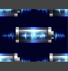 seamless texture with batteries vector image