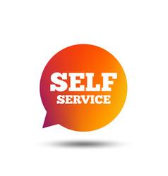 Self service sign icon maintenance symbol vector