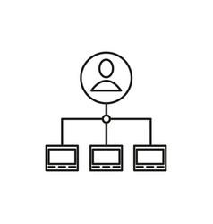 Server admin icon vector