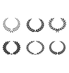 Set premium laurel icons vector