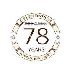 seventy eight years anniversary celebration logo vector image vector image