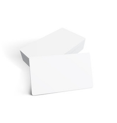 stack blank business card on white background vector image