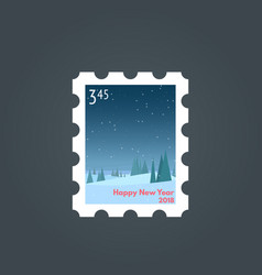 stamp happy new year vector image
