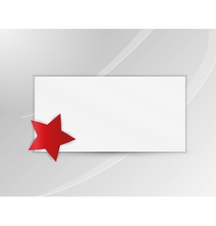 Star with blank paper vector