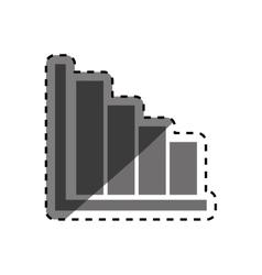 Statistics bars data vector image