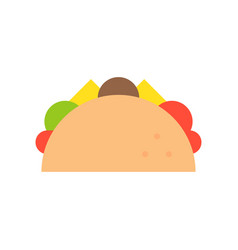 Taco food and gastronomy set flat icon vector