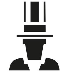 uncle sam silhouette - retro clip art vector image