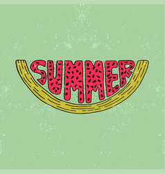Unique lettering poster with a word summer vector