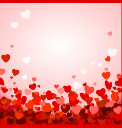 valentines day background with hearts romantic vector image
