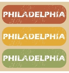 Vintage Philadelphia stamp set vector image