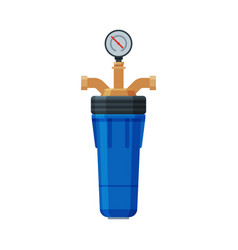 water filter with water meter special modern vector image