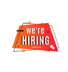We are hiring concept job vacancy advertisement vector