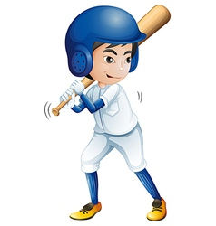 A young baseball player vector image vector image