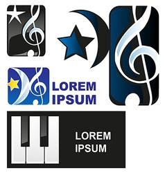 Classical music symbol vector image