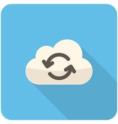 Cloud refresh icon vector image vector image