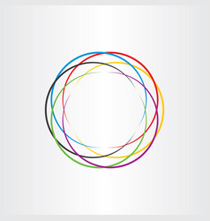 connection circle logo colorful icon background vector image