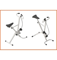 Exercise bike gym 3d vector