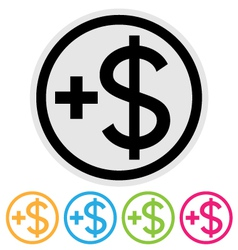 make money icon vector image vector image
