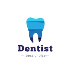 paper style tooth logo Dental clinic flat vector image vector image