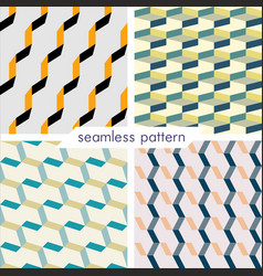 set of four seamless geometrical patterns 20 vector image vector image