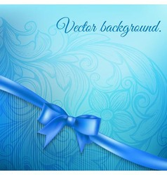abstract background with bow vector image vector image