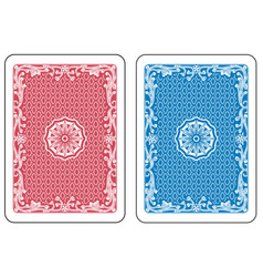 playing cards back vector image