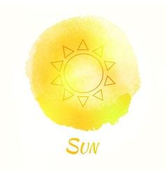 Sun Watercolor Concept vector image vector image