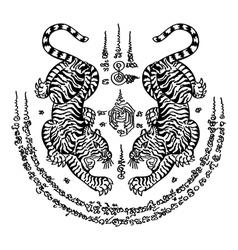 Tattoo thai style 3 vector