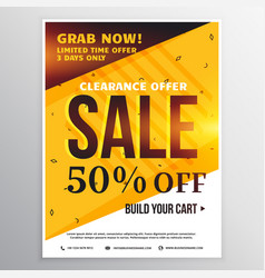 bright colors sale banner poster design template vector image