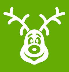 christmas deer icon green vector image