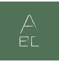 Letters icon drawn in chalk vector image