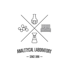 Logo for the chemical medical research vector image