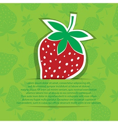 Strawberry in pocket banner on seamless vector