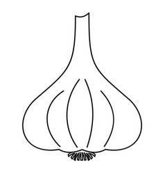 garlic vegetable icon outline style vector image