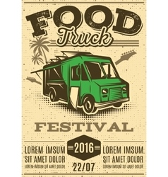 retro poster for invitations on street food vector image vector image
