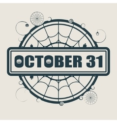 Stamp with October 31 text vector image