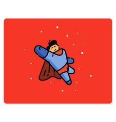 Super hero cartoon character vector