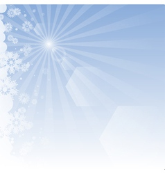 Winter background with rays vector image vector image