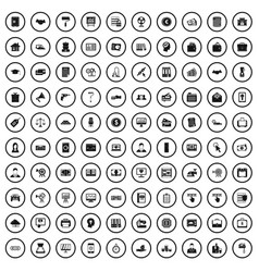 100 lending icons set simple style vector