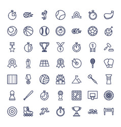 49 competition icons vector