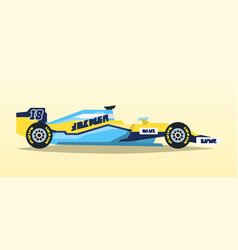 a racing bolid sport car quick transport vector image