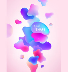 abstract 3d blue pink and purple gradient drop vector image