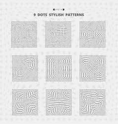 abstract black square dots mesh stylish pattern vector image