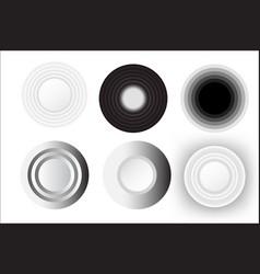 abstract circle white set design vector image