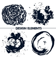 Abstract elements for your design Dark blue vector