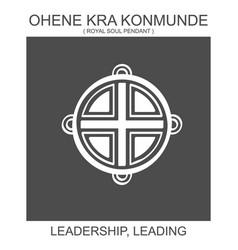 African adinkra symbol ohene kra konmunde vector
