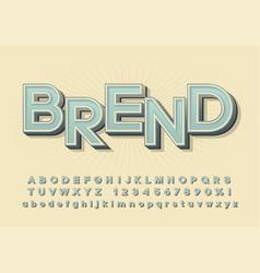 Alphabet three-dimensional font vector
