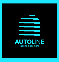 Auto line logotype - letter a dynamic sport line vector
