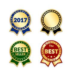 award ribbon best vector image