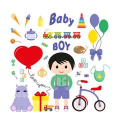 Baicons for boys icon flat vector